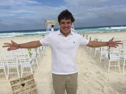 Colocação das músicas durante a cerimônia - Cancún